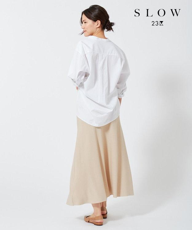 23区 【SLOW】クレープ ニットフレアスカート ベージュ系