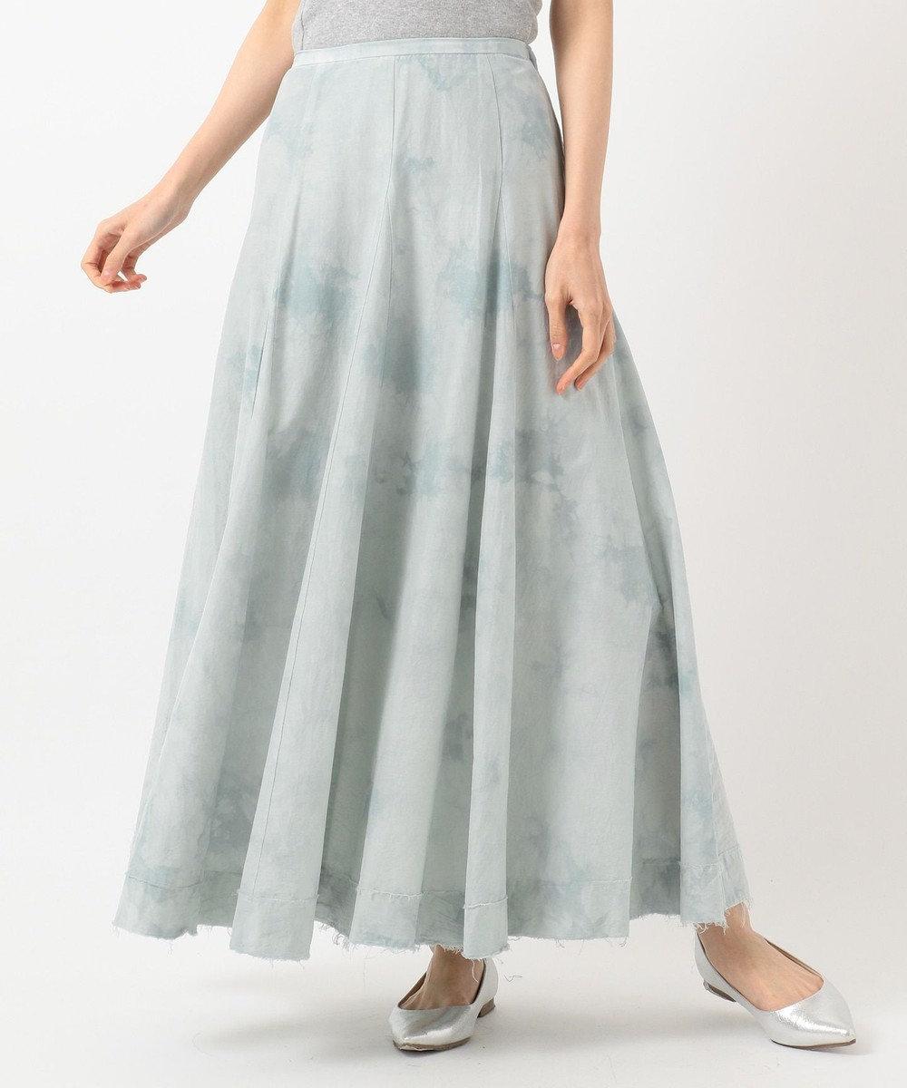 23区 【SLOW】バスケットダイ フレアスカート ブルー系7