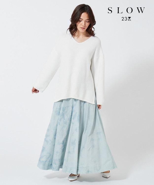 23区 【SLOW】バスケットダイ フレアスカート