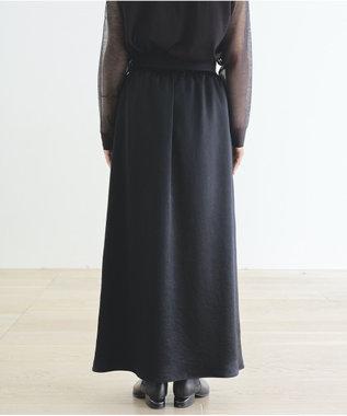 #Newans 【マガジン掲載】洗える/ ストレッチサテンスカート(番号NF23) ブラック系