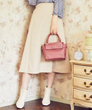 Feroux 【洗える】エアリーコットンコーデュロイ スカート ベージュ系