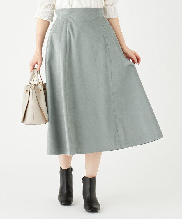 Feroux 【洗える】エアリーコットンコーデュロイ スカート