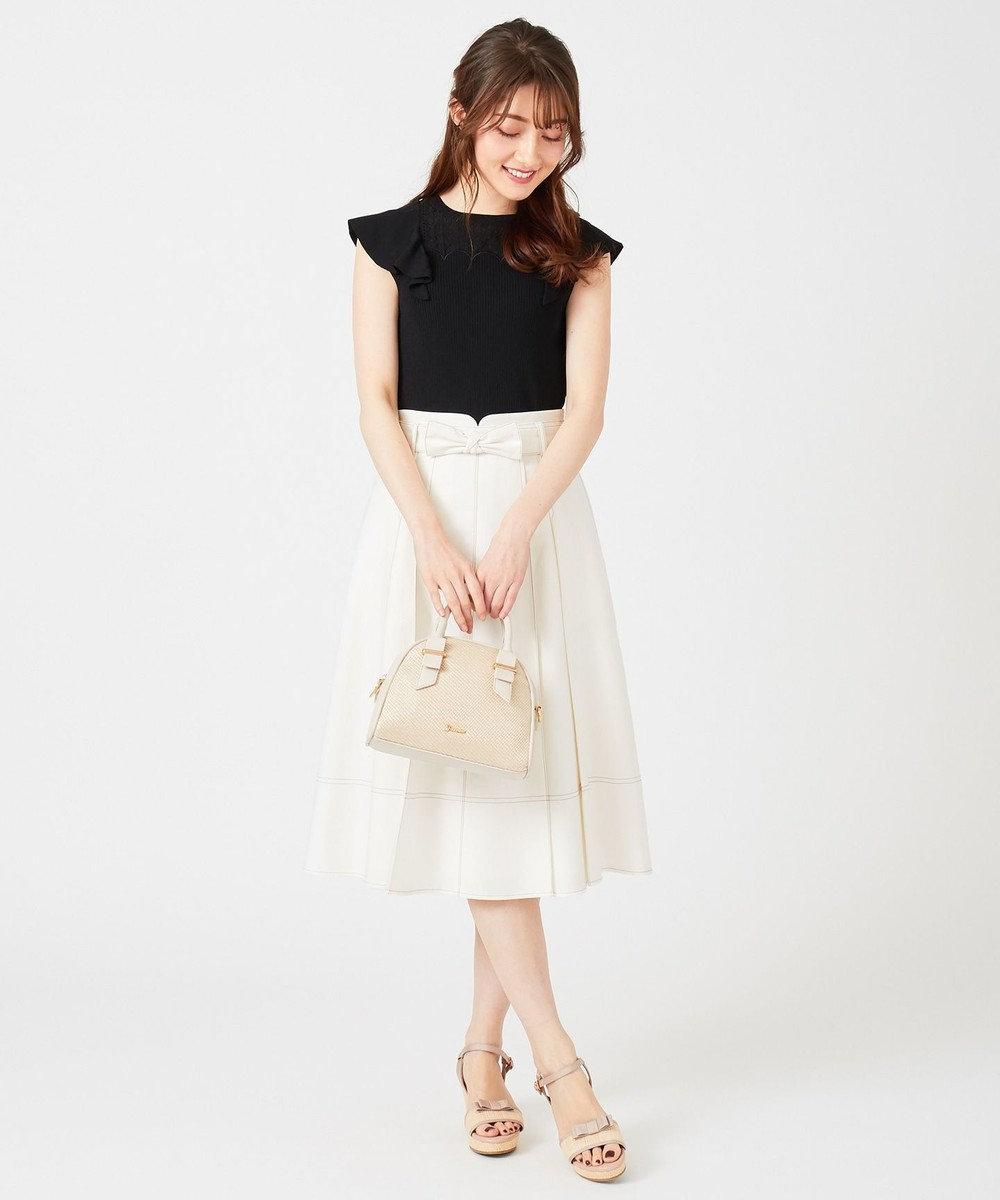 Feroux 【Ray6月号掲載】キャンディリボンチノ スカート ホワイト系