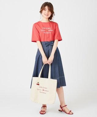 Feroux 【Ray6月号掲載】キャンディリボンチノ スカート ダルブルー系