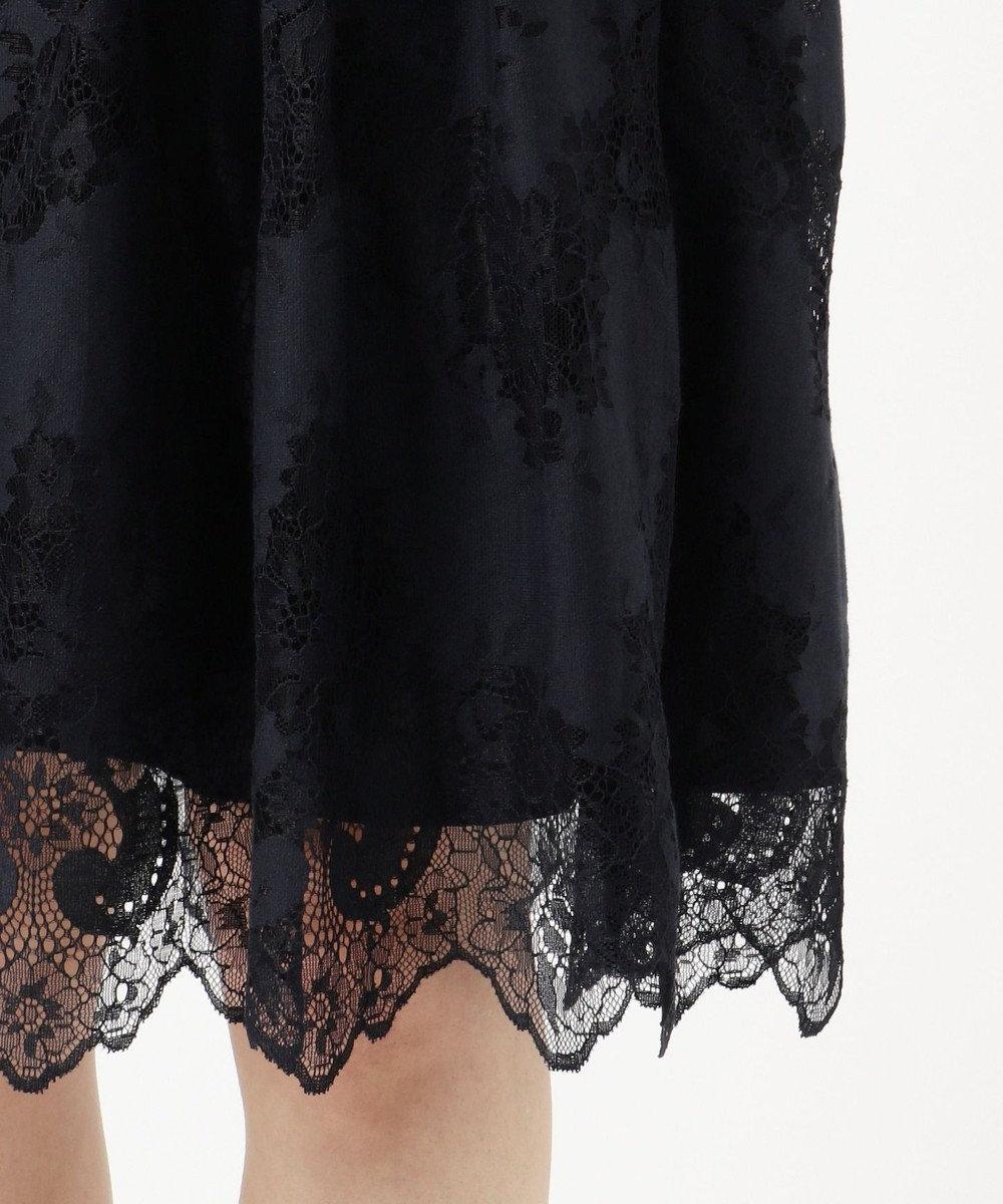 Feroux 【洗える】サマーノーブルレース スカート ネイビー系