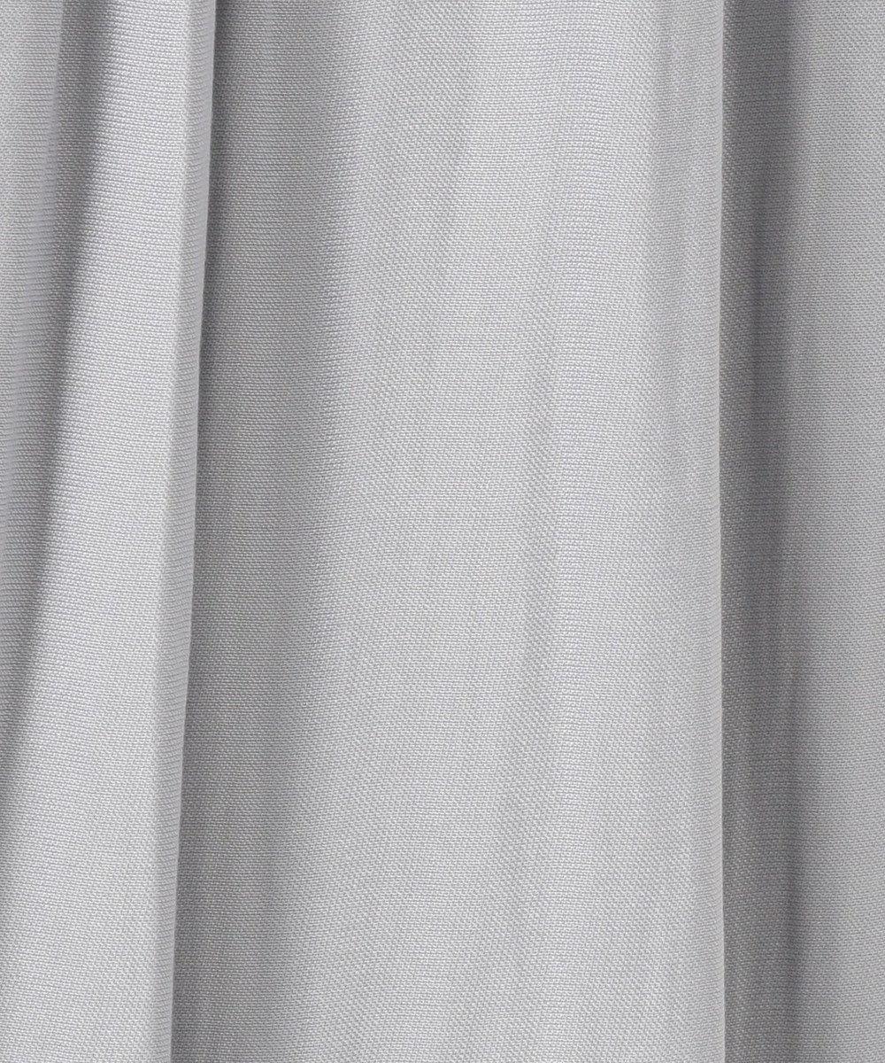 Feroux 【洗える】ヴィンテージサテン スカート ライトグレー系