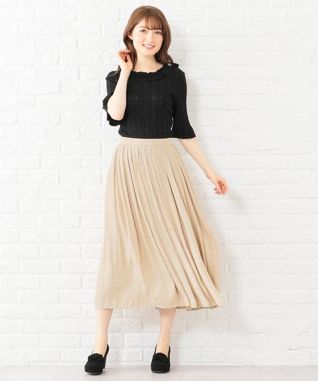 Feroux 【洗える】ヴィンテージサテン スカート
