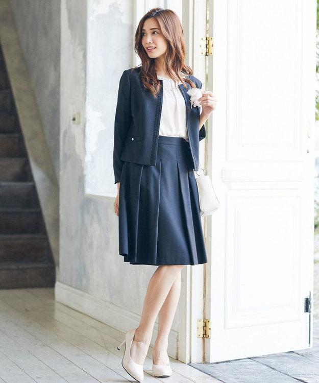 Feroux 【セットアップ対応】レディポイントドビー スカート