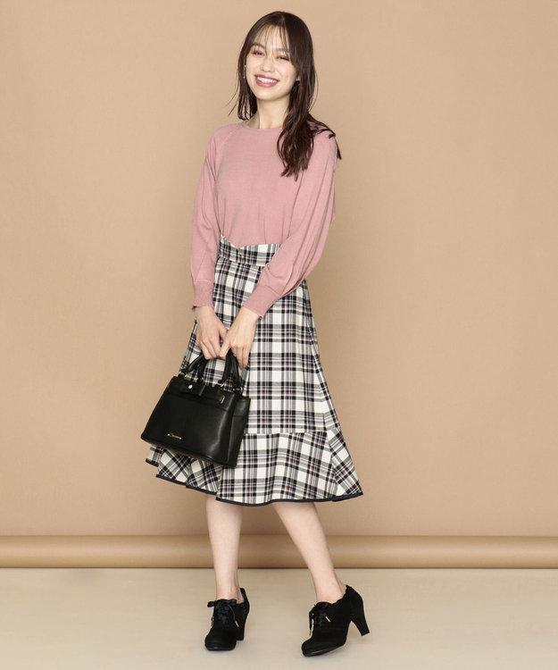 Feroux 【洗える】プレッピーカラーチェック スカート