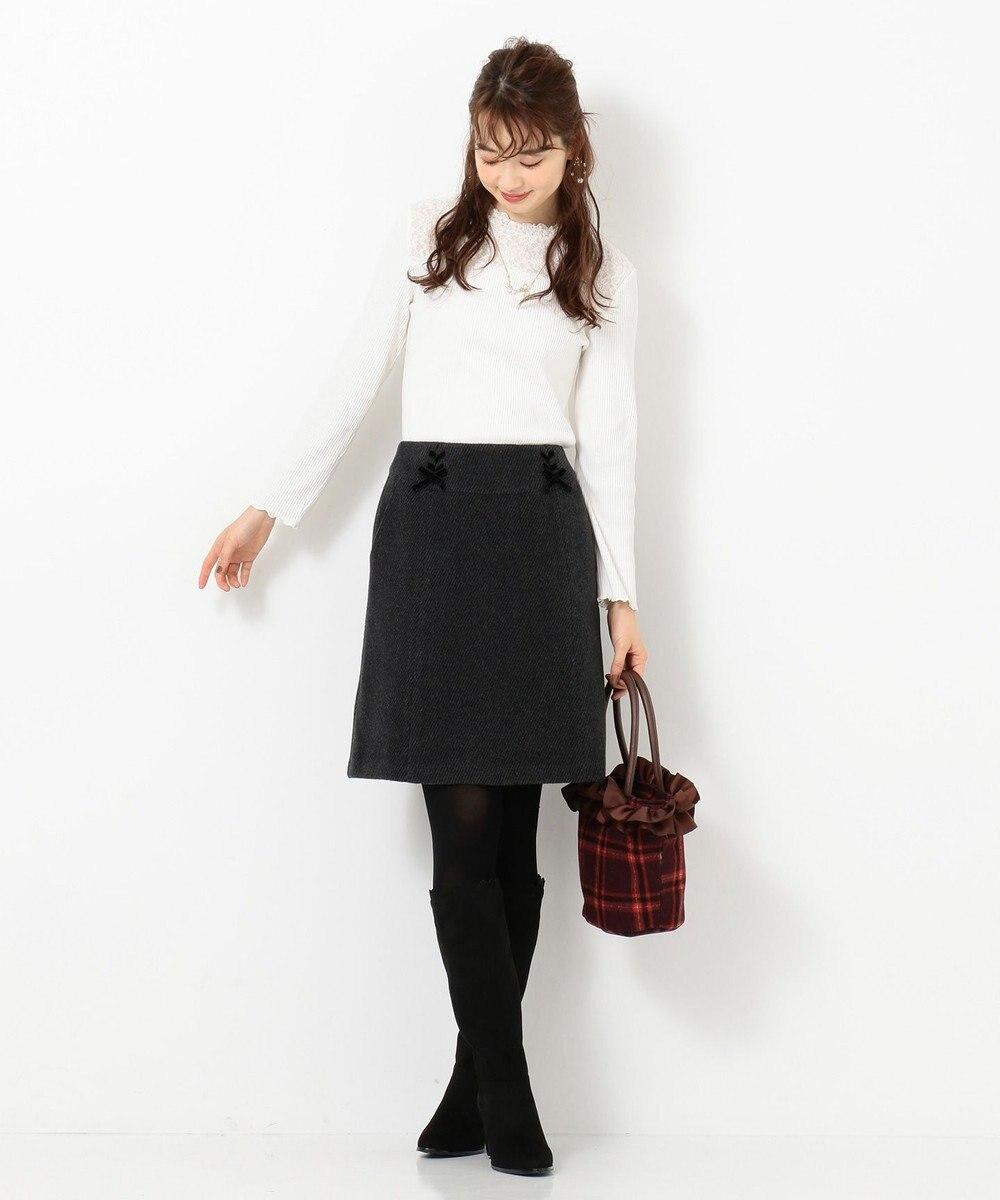 Feroux 【Ray12月号掲載】レースアップコンパクト スカート グレー系