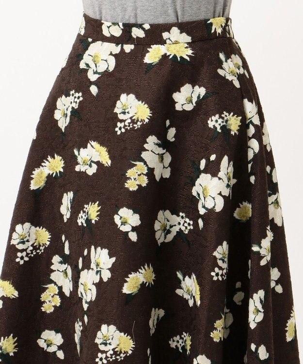 Feroux 【洗える】ジャガードオンフラワー スカート