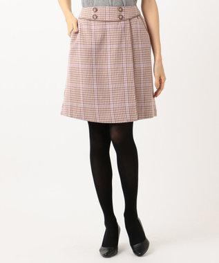Feroux Fluffyチェック スカート ベージュ系3