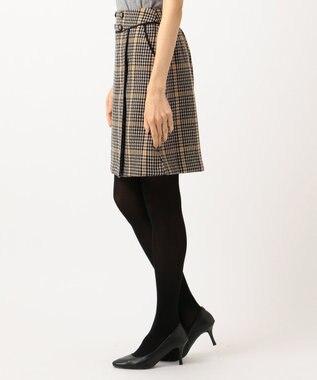 Feroux Fluffyチェック スカート ブラック系3
