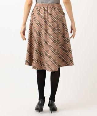 Feroux 【Ray12月号掲載】モールヤーンチェック スカート キャメル系3