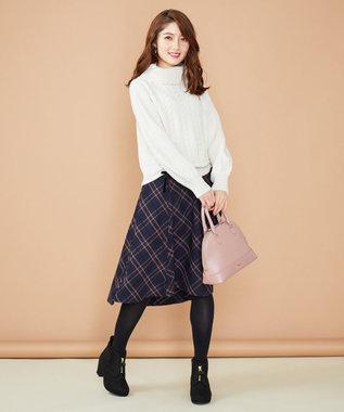 Feroux 【Ray12月号掲載】モールヤーンチェック スカート ネイビー系3