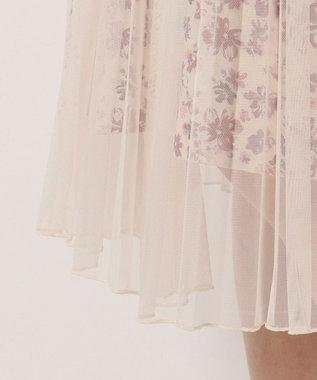 Feroux 【洗える】Mixフローラルクロージング スカート アイボリー系3