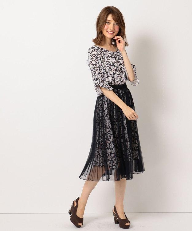 Feroux 【洗える】Mixフローラルクロージング スカート
