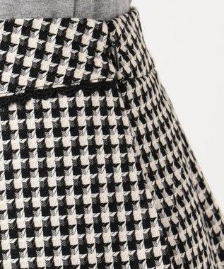 Feroux 【洗える】ドビーチェック スカート ブラック系3