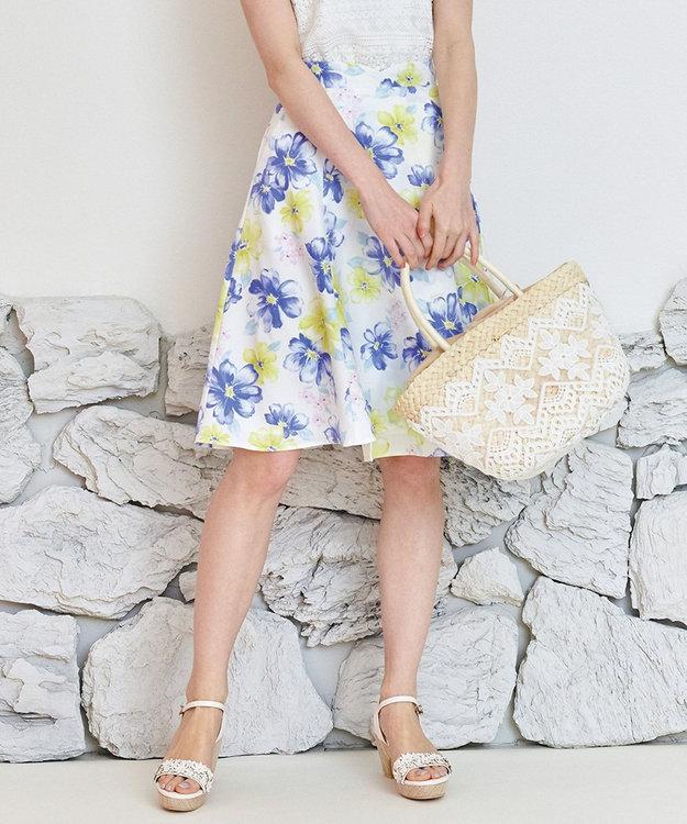 Feroux 【洗える】トロピカルサマーフラワー スカート