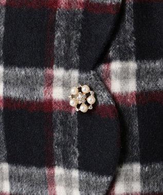 Feroux ガーリースタイリングシャギー スカート ネイビー系3