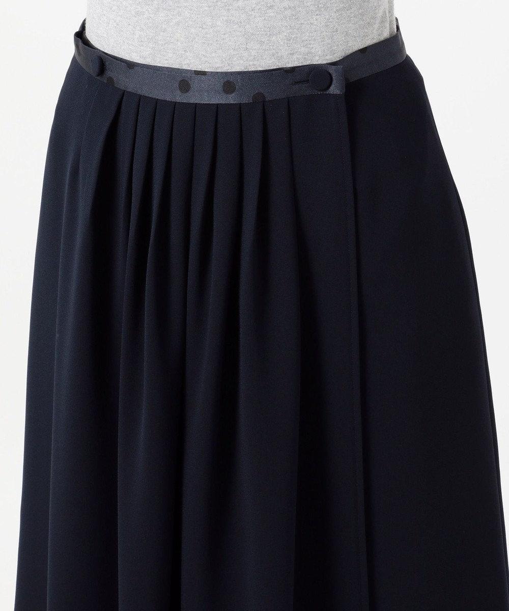 Paul Smith 【WEB限定・洗える】クレープアムンゼンドットプリント スカート ネイビー系