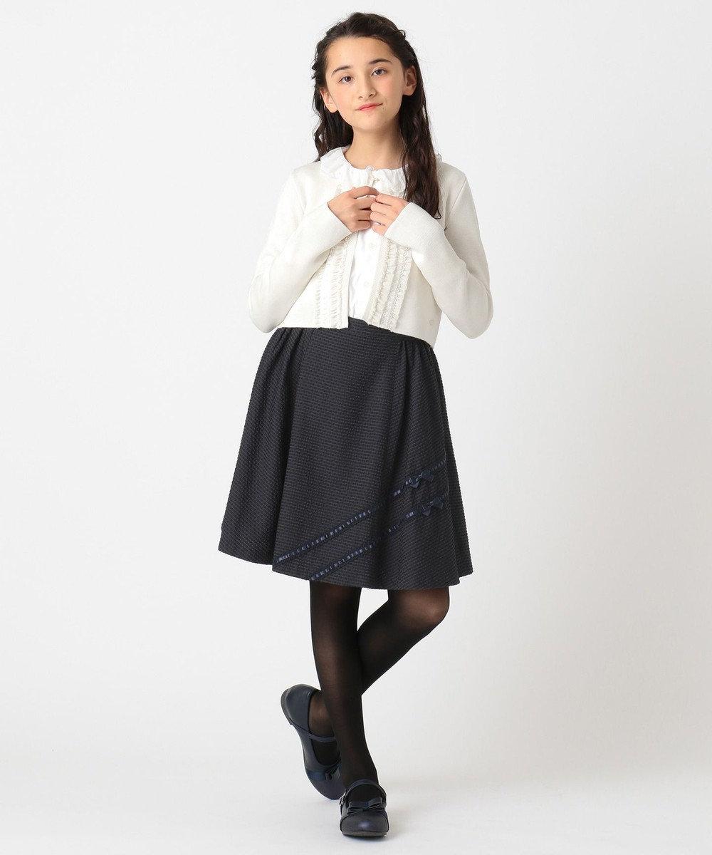TOCCA BAMBINI 【150-160cm】ドビーストレッチ スカート ネイビー系