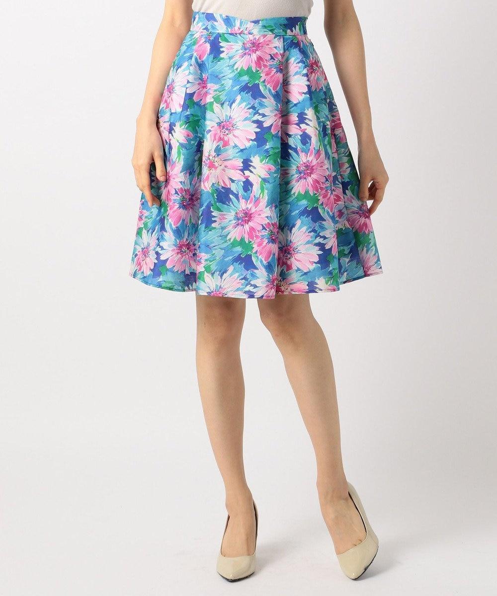 TOCCA 【洗える!】BLOOMING FLOWER スカート ブルー系5
