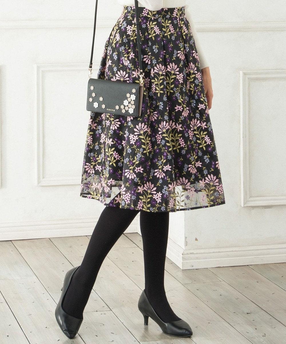 TOCCA LOTUS ROSE スカート ブラック系7