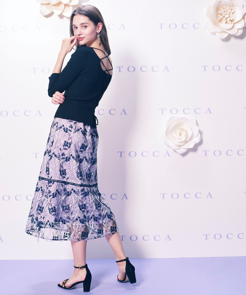 TOCCA 【TOCCA LAVENDER】Wavy Embroidery スカート ネイビー系7