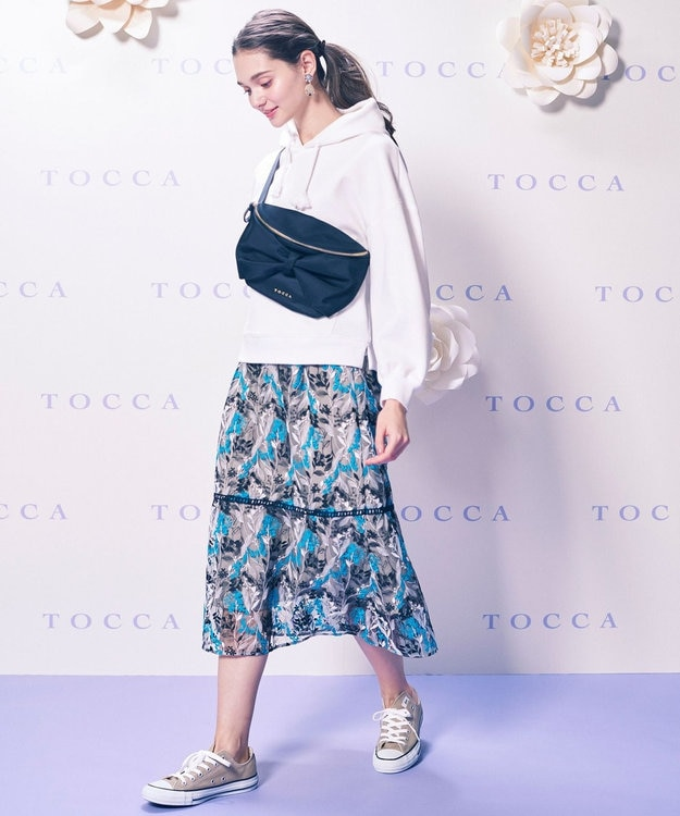 TOCCA 【TOCCA LAVENDER】Wavy Embroidery スカート