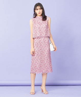 TOCCA 【TOCCA LAVENDER】Pastel Chemical Lace スカート ピンク系7