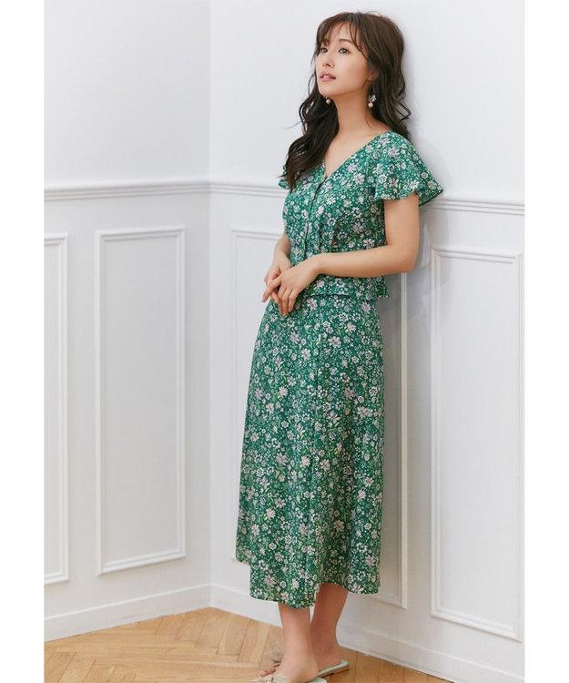 TOCCA 【TOCCA LAVENDER】Exotic Print スカート