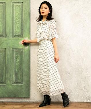TOCCA 【TOCCA LAVENDER】【SETUP】Floral Flocky スカート アイボリー系5