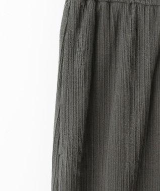 自由区 L 【Unfilo】ツイストテレコ ロングスカート チャコールグレー