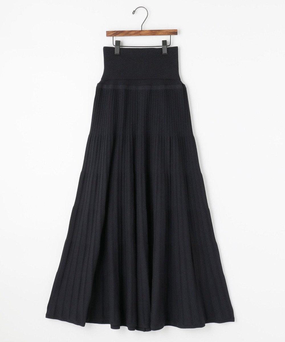 自由区 【Unfilo】コットンブレンドニット プリーツスカート(検索番号Z46) ネイビー系