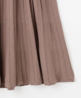 自由区 【Unfilo】コットンブレンドニット プリーツスカート(検索番号Z46) ブラウン系