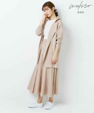 自由区 【Unfilo】コットンブレンドニット プリーツスカート(検索番号Z46) ピンク系