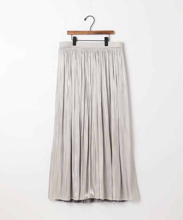 自由区 【UNFILO】チュール&サテン リバーシブルスカート(検索番号:UG24) オイスター