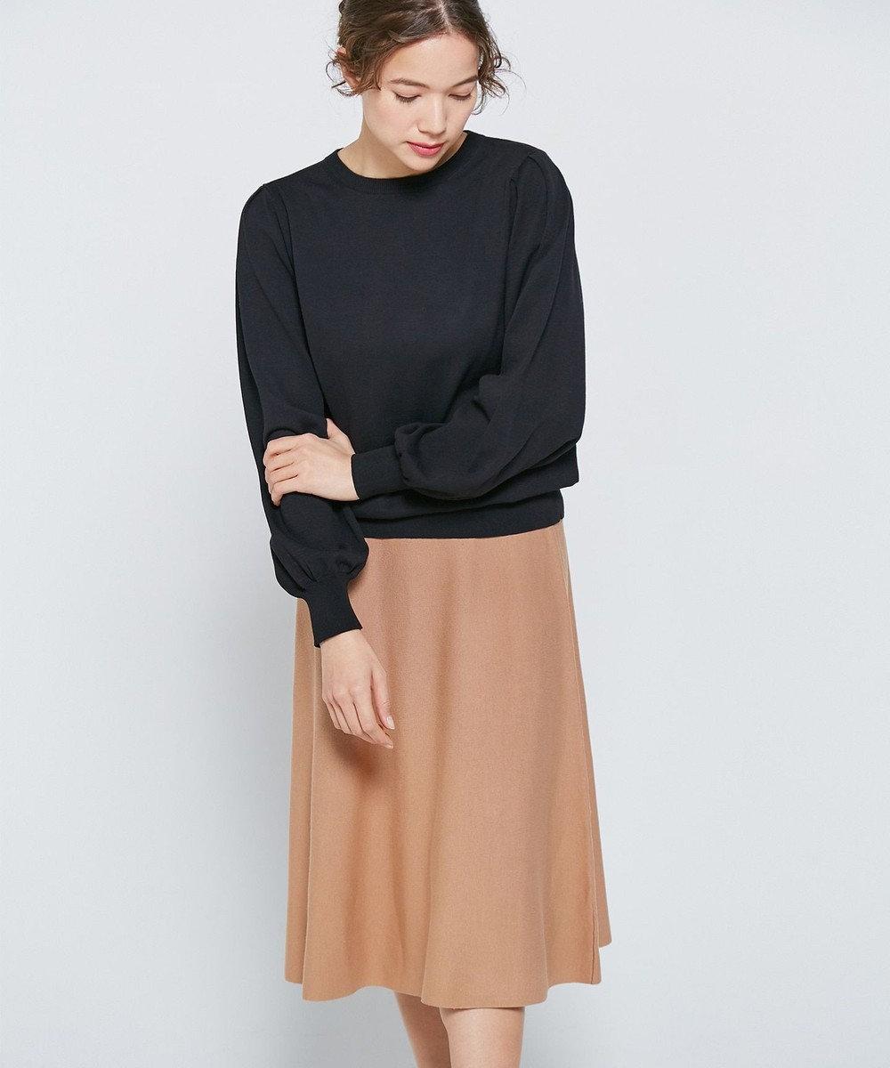 自由区 【Unfilo】コットンストレッチ フレアースカート(検索番号Z32) ブラック