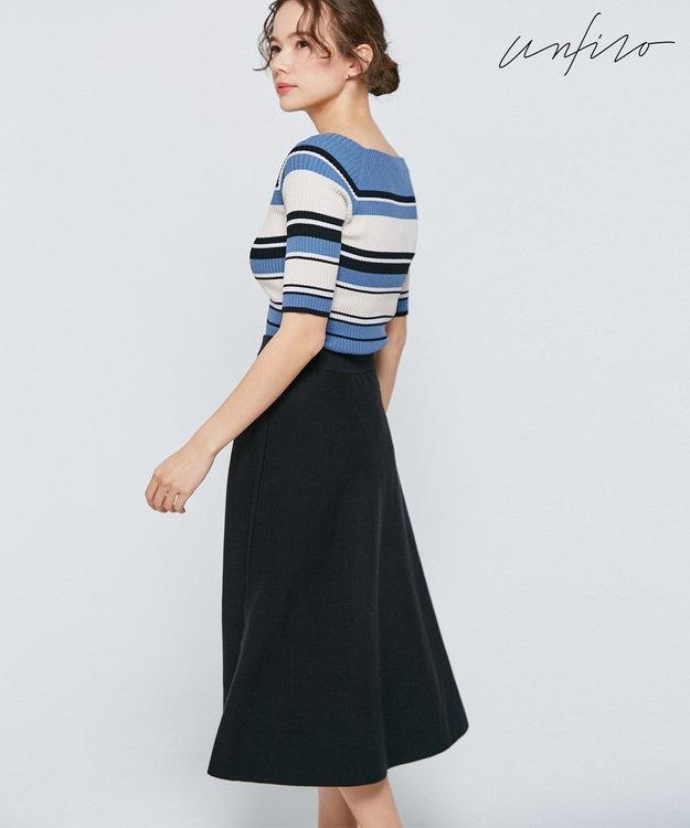 自由区 【Unfilo】コットンストレッチ フレアースカート(検索番号Z32)
