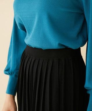 自由区 【Unfilo】カラーベーシックニット プリーツスカート(検索番号Z87) ブラック