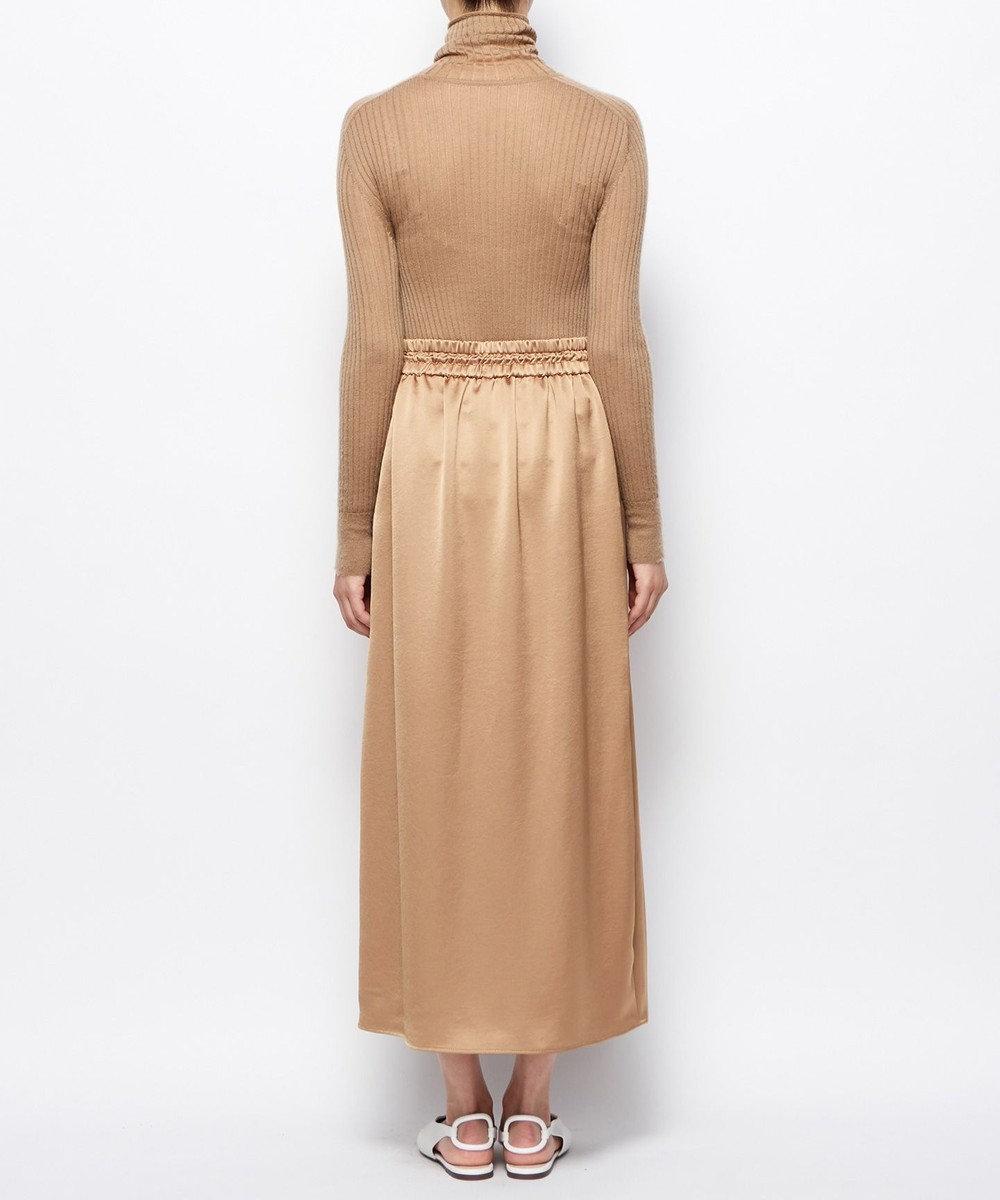 uncrave ビンテージサテン スカート キャメル系
