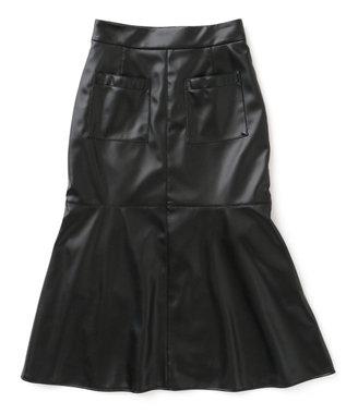 uncrave 【追加生産】エコレザー マーメイドスカート ブラック