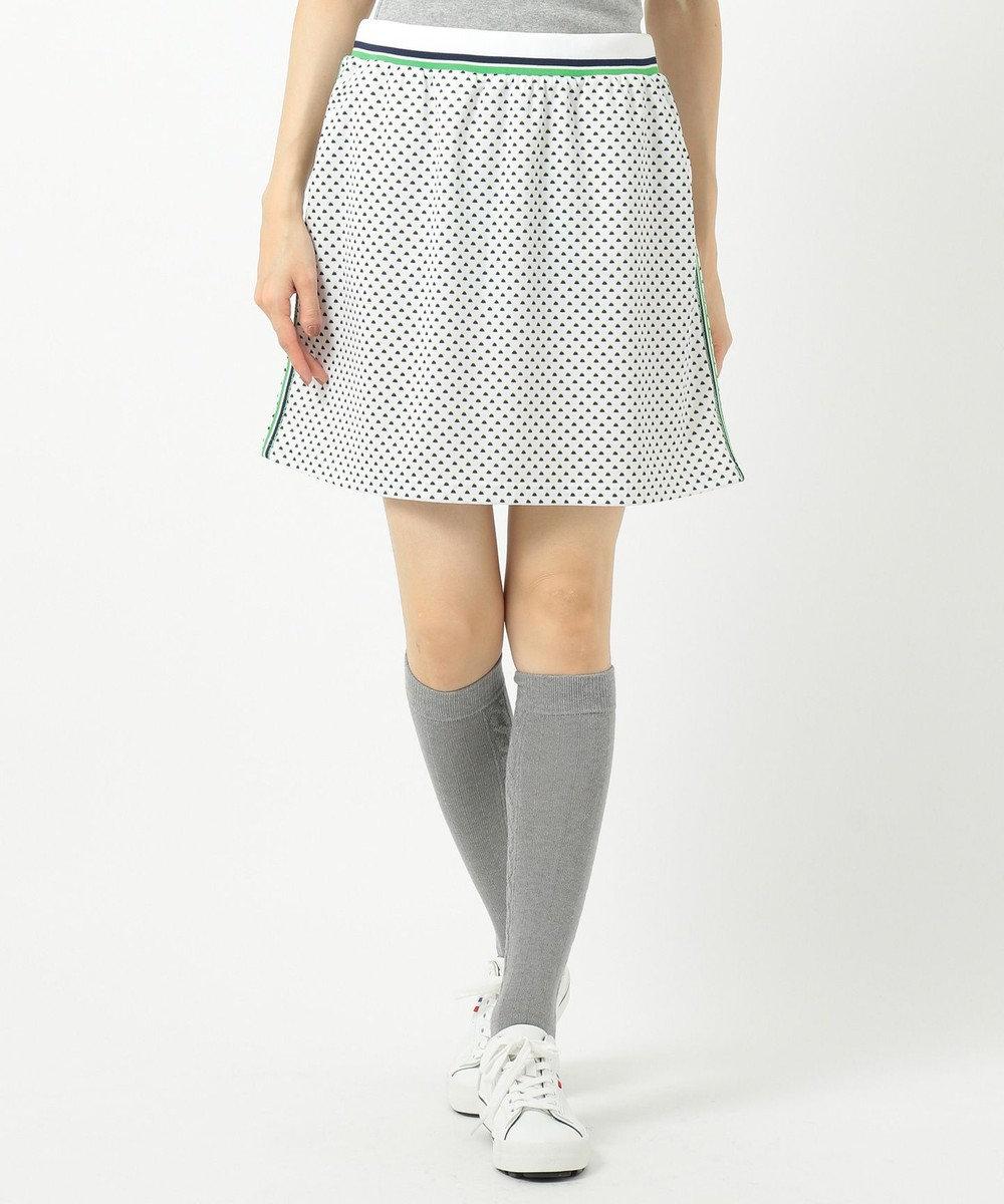 23区GOLF 【WOMEN】【UV/吸汗速乾】富士柄 プリントかのこ スカート ホワイト系5