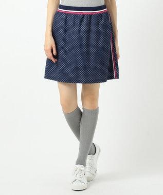 23区GOLF 【WOMEN】【UV/吸汗速乾】富士柄 プリントかのこ スカート ネイビー系5