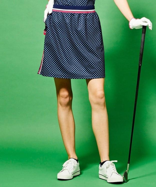 23区GOLF 【WOMEN】【UV/吸汗速乾】富士柄 プリントかのこ スカート