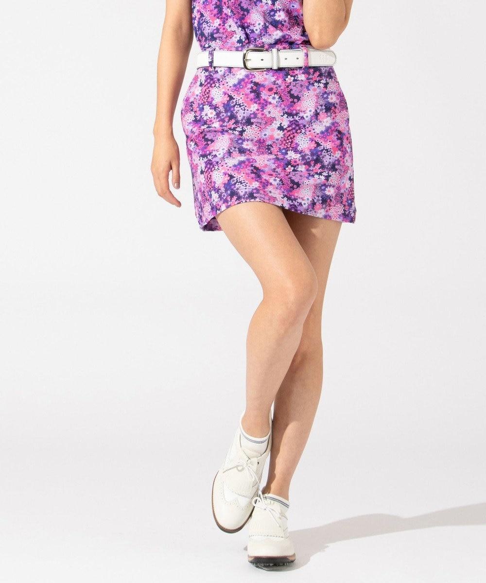 23区GOLF 【WOMEN】【ストレッチ】スプリングフラワー柄 スカート パープル系5