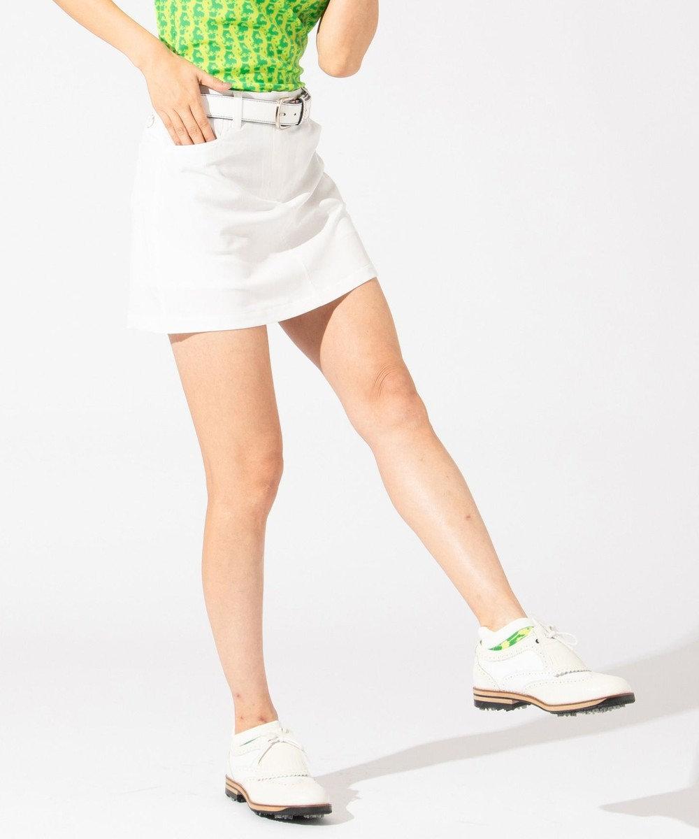 23区GOLF 【WOMEN】【撥水 / ストレッチ】ストレッチバックメッシュ スカート ホワイト系