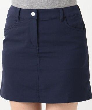 23区GOLF 【WOMEN】【撥水 / ストレッチ】ストレッチバックメッシュ スカート ネイビー系