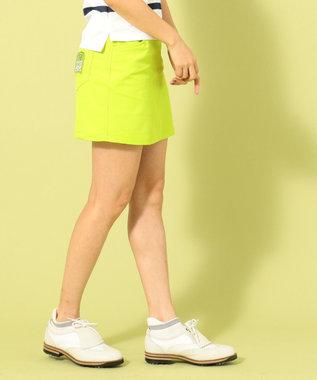 23区GOLF 【WOMEN】【撥水 / ストレッチ】ストレッチバックメッシュ スカート 黄緑系